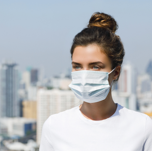 Mund-Nasen-Maske mit Ohrenschlaufen,  3-lagig, 50 Stück im Pack  |  NUR 0,98 € pro Stück