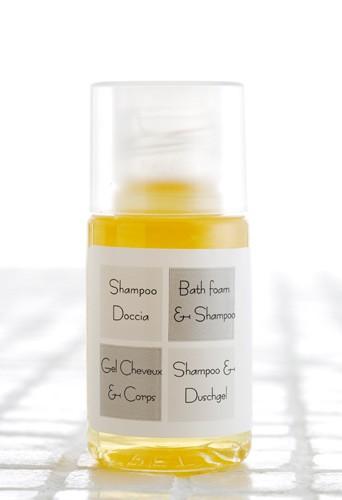 Shampoo & Duschgel in der Flasche 20ml (2 in 1) nur 0,25 EUR pro Stück